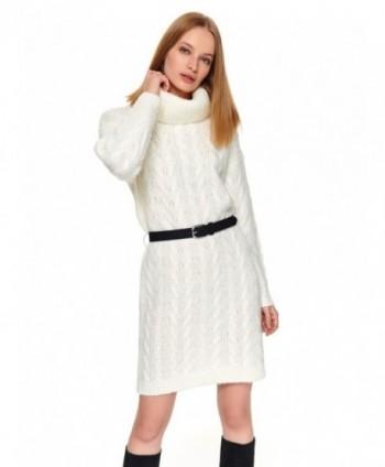 Rochie alba tricotata STU0165