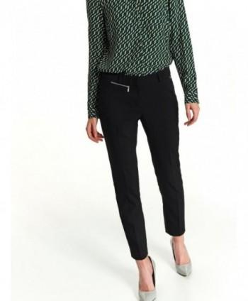 Pantaloni negri cu fermoar...