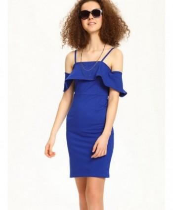 Rochie albastra cu umeri...