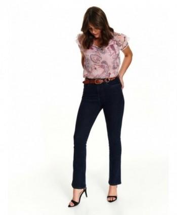 Jeans bleumarin evazati...