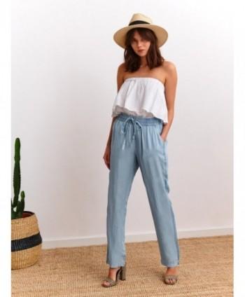 Pantaloni bleu largi SSP3301