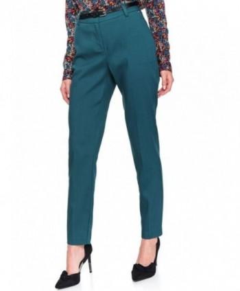 Pantaloni turquoise cu...