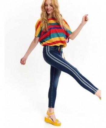 Jeans cu dunga laterala...