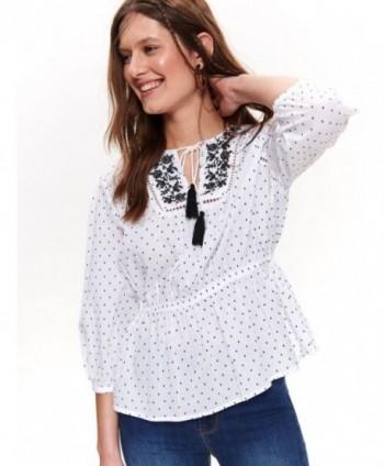 Bluza alba cu buline SBD1057