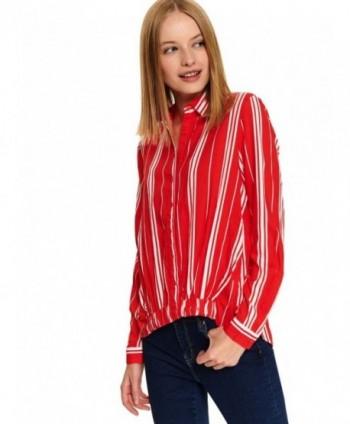 Bluza rosie cu dungi SBD1158