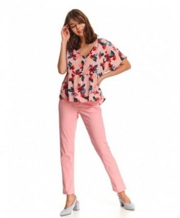 Bluza roz cu flori SBK2527