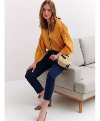 Jeans bleumarin 3/4 Top...