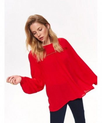 Bluza rosie cu maneca lunga...