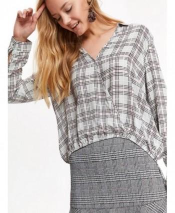 Bluza gri in carouri  SKL2719