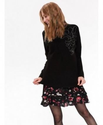 Pulover negru tricotat SGO0124