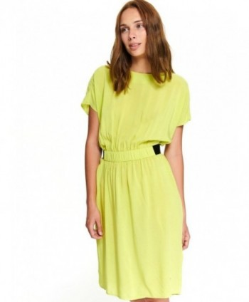 Rochie verde cu elastic in...