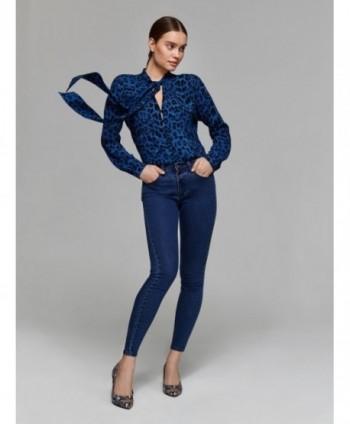 Bluza albastra animal print...