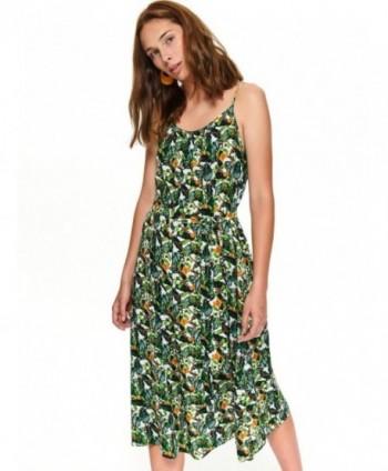 Rochie verde cu imprimeu si...